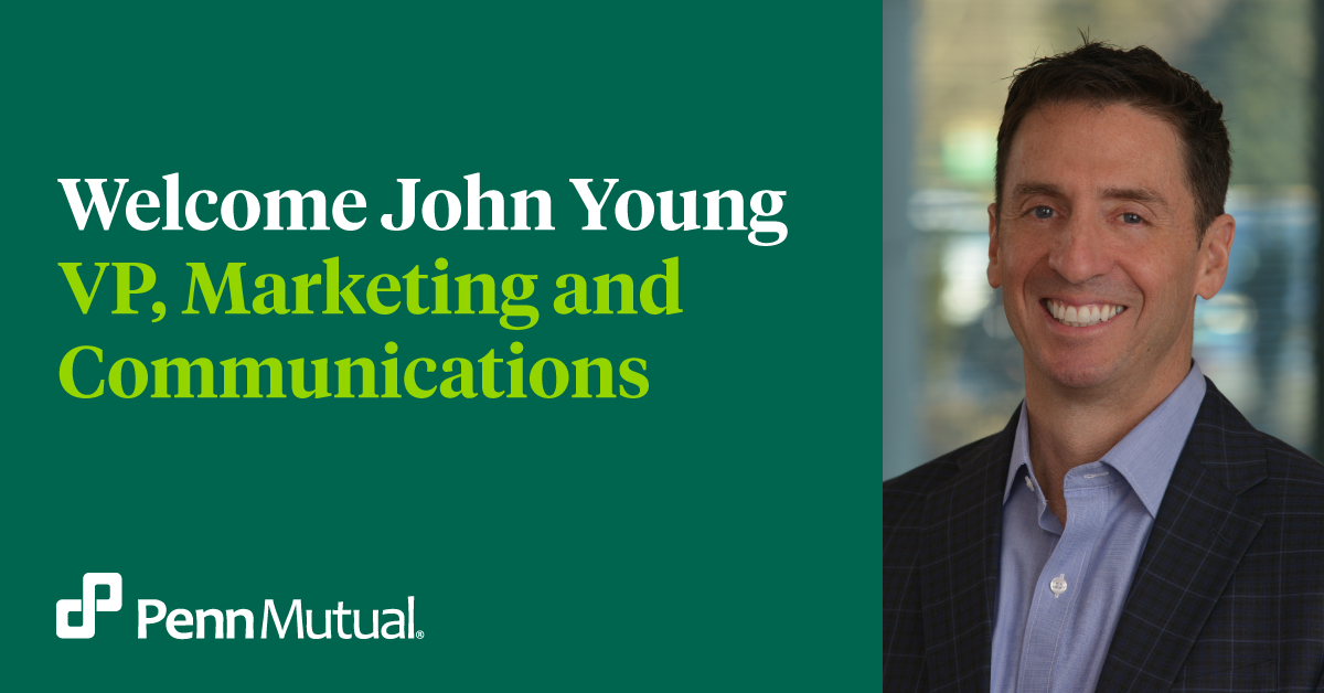 John Young, the new VP of Marketing and Communications.
